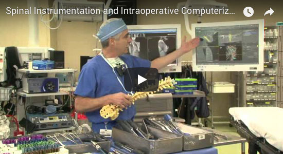Video for Spinal Instrumentation and Intraoperative Computerized Image Guidance